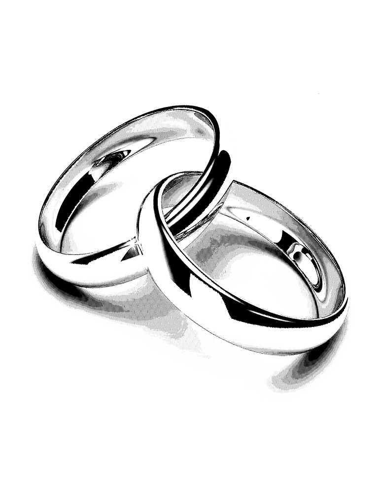 Wedding Bands Just Married Newlyweds New Wife New Bride New