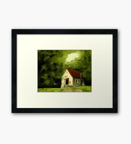 """Country Church 1""... prints and products Framed Print"