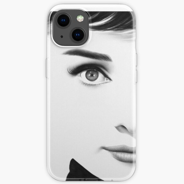 The Half Series. Audrey Hepburn iPhone Soft Case