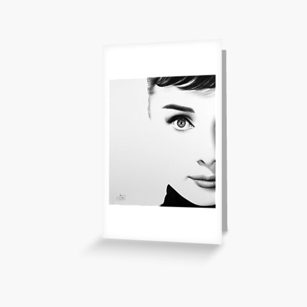 The Half Series. Audrey Hepburn Greeting Card