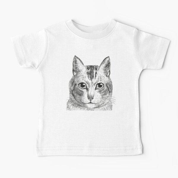 Cat   Black and White    Baby T-Shirt