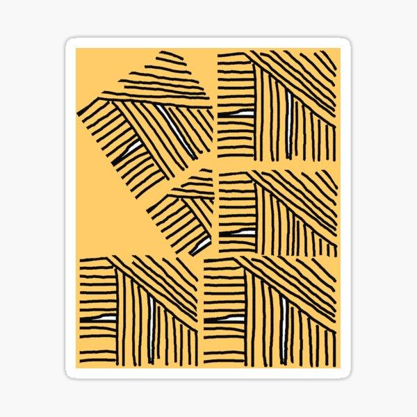 Line pattern black and yellow Sticker