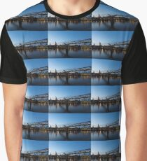 Reflecting on Bridges and Skylines - City of London, England, UK Graphic T-Shirt