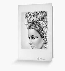 Elizabeth Taylor Portrait Greeting Card