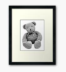 Cuddly Teddy Bear. Vintage Teddy Bear. Antique Teddy Bear. Teddy Bear Engraving. Framed Print