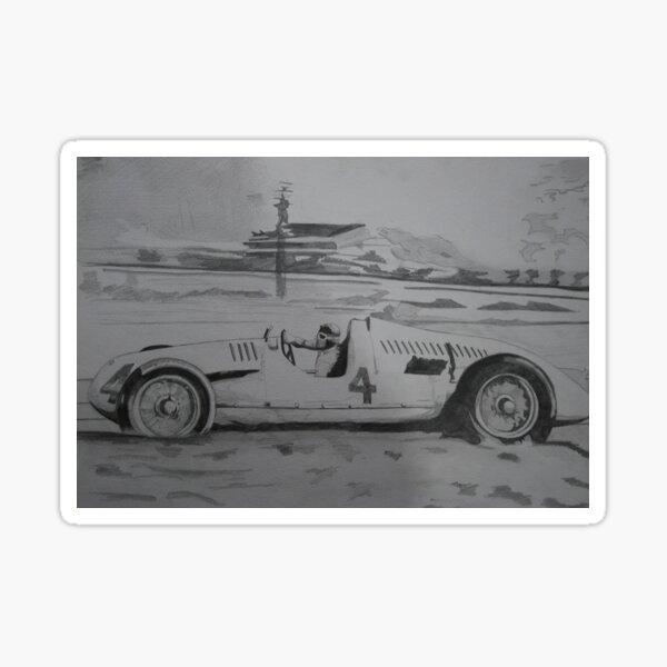 Type D racing car- Auto Union (Tazio Nuvolari) Sticker