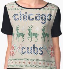 Christmas Chicago Cubs Chiffon Top