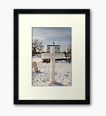 ice cross Framed Print