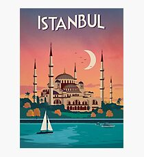 Istanbul, Turkey - Travel Poster Photographic Print