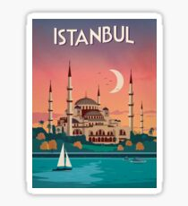 Istanbul, Turkey - Travel Poster Sticker
