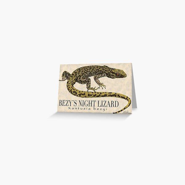 Bezy's Night Lizard Greeting Card