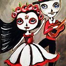 Day of the dead couple by MayaDevi