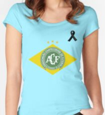 Pray For Chapecoense Women's Fitted Scoop T-Shirt