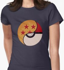Camiseta entallada Pokemon Dragon Ball Fusion