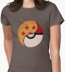 Pokemon Dragon Ball Fusion  Women's Fitted T-Shirt
