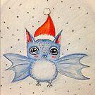 Merry Christmas Yeti Bat by MayaDevi