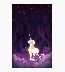 Unicorn in a Lilac Wood Photographic Print