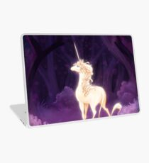 Unicorn in a Lilac Wood Laptop Skin