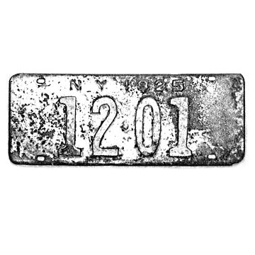 Antique New York License Plate by digitaleclectic