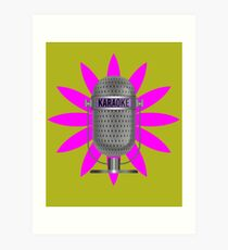 Karaoke Phone Art Print