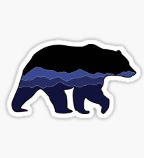 Bear Graphic- Black, Mountains Sticker
