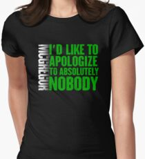McGregor - I'd Like To Apologize To Absolutely Nobody Womens Fitted T-Shirt