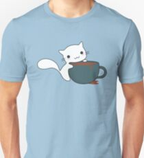 Cute Cat and Coffee T-Shirt