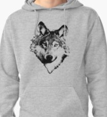 Wise Wolf Face. Animal Prints. Digital Wildlife Engravings. T-Shirt