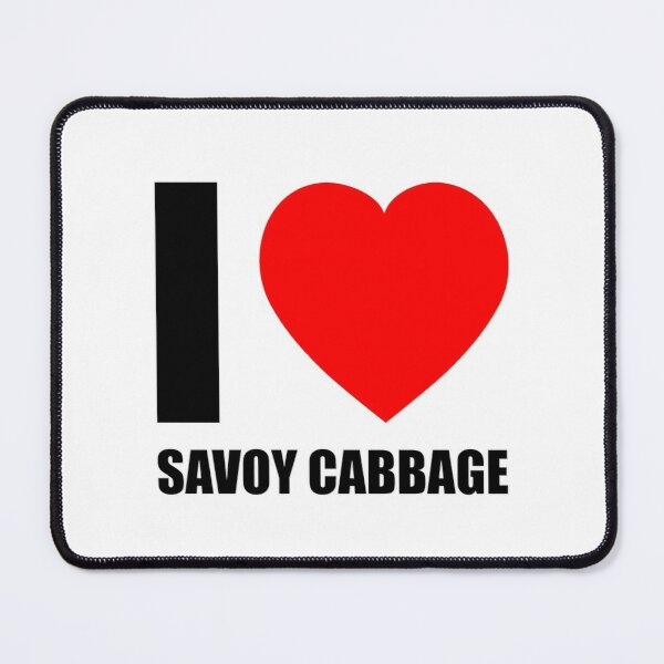I Love Savoy Cabbage, Vegetable Vege Mouse Pad