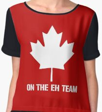 On The Eh Team Chiffon Top