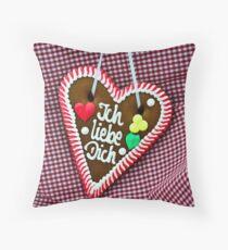 Oktoberfest Gingerbread Heart Throw Pillow