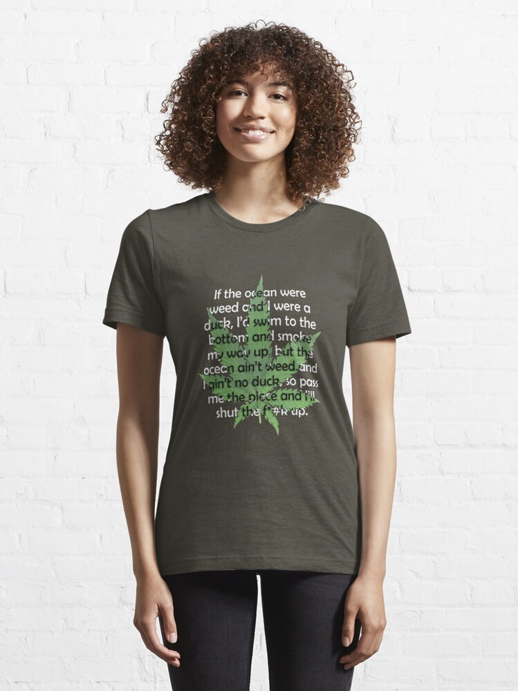 Alternate view of Weed Poem Essential T-Shirt