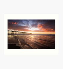 Hermosa Beach, California. Art Print