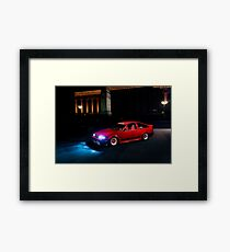 Red Toyota AE86 at the Night Muesum Framed Print