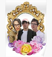 Cancer Crew Flower Frame Poster