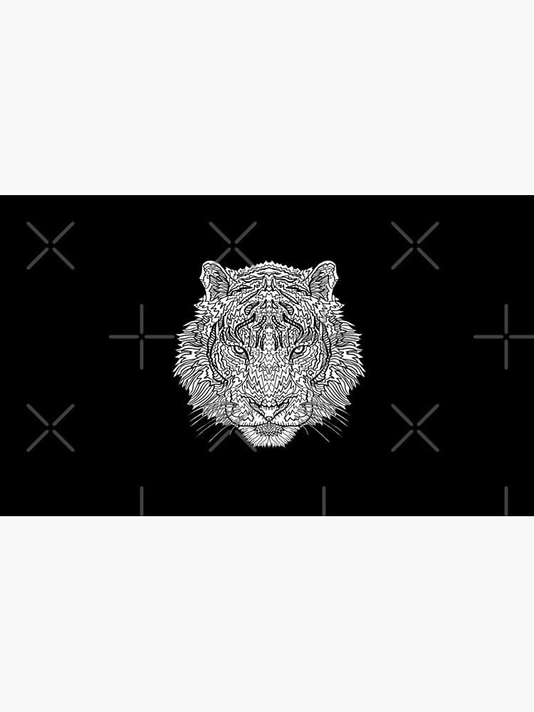 Tiger - Tätowierungskunst - schwarze Linie Illustration von complicolor