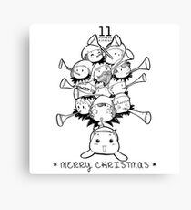 Eleventh Day of Christmas Canvas Print
