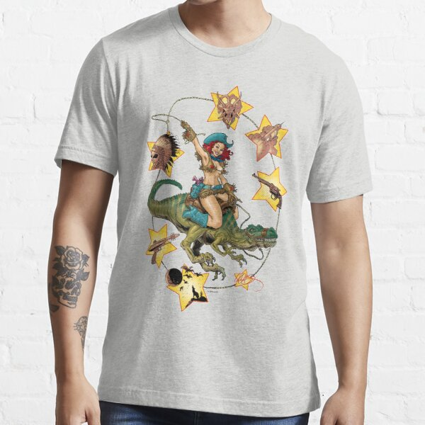 ROXY WEST; QUEEN OF DINOSAUR ISLAND Essential T-Shirt