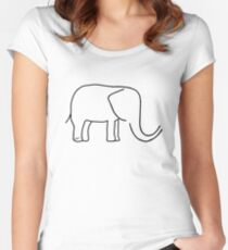 For the love of Elephants  Women's Fitted Scoop T-Shirt