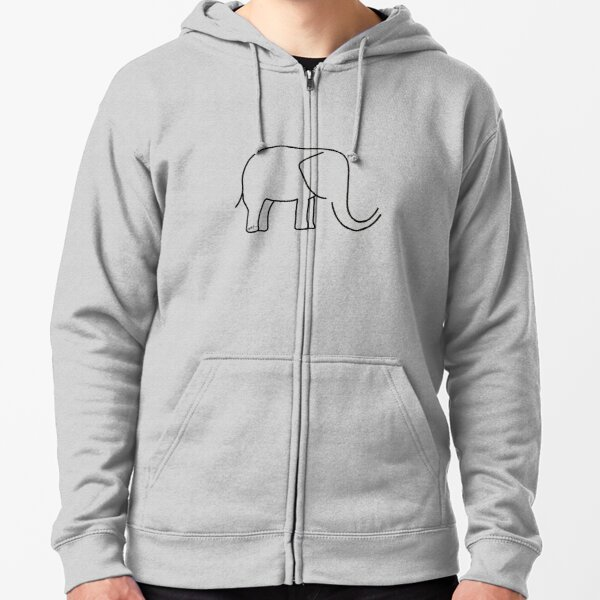 For the love of Elephants  Zipped Hoodie