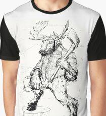 Lumber Moose Graphic T-Shirt