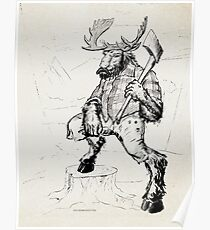 Lumber Moose Poster