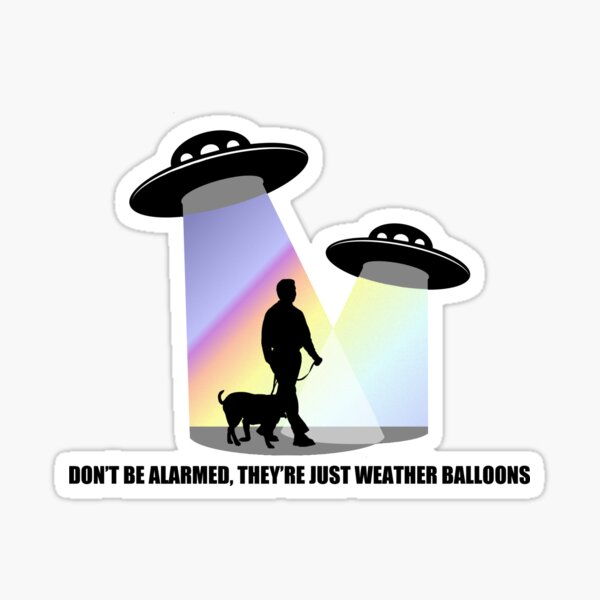 Just Weather Balloons Sticker