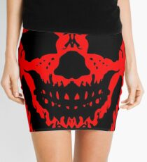 Red and Black Skull V2 Mini Skirt