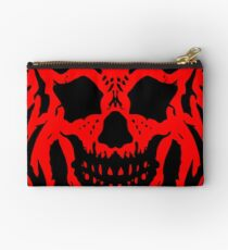 Red and Black Skull V2 Studio Pouch