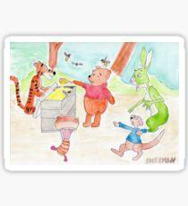 Winnie the Poo and Friends Sticker