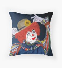Happy Clown Throw Pillow