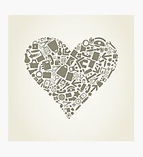 Heart office Photographic Print