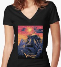 Blue Voltron Women's Fitted V-Neck T-Shirt