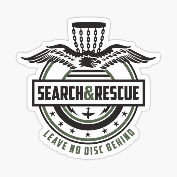 Search and Rescue - Leave No Disc Behind - Disc Golf -CCU Sticker